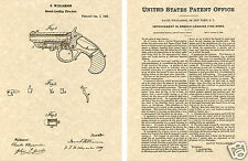 DERRINGER PISTOL 1866 US PATENT Art Print READY TO FRAME!!  Williamson breech