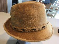 c799bc74424b0 BILTMORE GRAND BEAVER Vintage Men s Tan Fur Fedora Hat Size 7