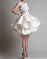 Neu weiß & Elfenbein Brautkleid/Hochzeitskleid/Ballkleid Gr:34/36/38/40/42/44