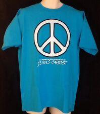 Peace Symbol Catholic Christian T Shirt Large Jesus Peacemakers LENT EASTER