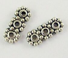 30 x Tibetan Silver 3 Hole Spacer Bars - Flower Spacer - SP21