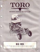 TORO  BIG RED REAR ENGINE RIDER PARTS CATALOG