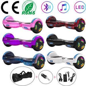 Hoverboard 6,5 Zoll Elektro Scooter Bluetooth LED Balance Skateboard Für Kinder