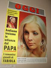 OGGI=1967/13=PATTY PRAVO FANSTATICA IN COPERTINA RIVISTA 30 MARZO '67=
