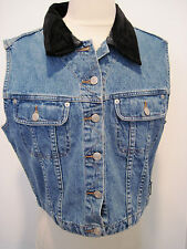 Retired WARNER BROTHER'S Denim Vest Embroidered Tweety On The Back. Size L NEW!