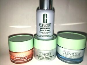 Clinique lot of 4, All About Eyes, Repairware Laser Focus, Overnight Radiance