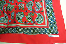 Vintage Marco Corsari Head Scarf Paisley Signed Hang Tag Italy Rolled Edge 30x30