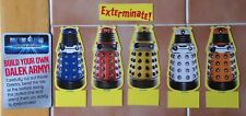 Dr Doctor Who Set of 5 small Dalek Cut Outs New Paradigm 9cm tall approximately