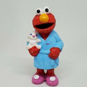 Vintage Elmo in Bath Robe Slippers Bedtime PVC Figure Sesame Street Applause