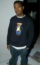 Ralph Lauren Preppy Stadium Polo Ski Bear Navy Knit RRL Holiday Yeezy Sweater XL