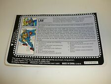 GI JOE LAW FILE CARD Vintage Action Figure HALF CUT / AWESOME SHAPE 1993