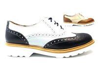 Chaussures pour Femmes à Lacets Pregunta IAL24760 Cuir Bleu 36 Et 39 Inglesina