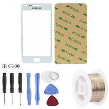 Samsung Galaxy S2  i9100 White Front Glas Glass Touchscreen  Weiß + Werkzeug