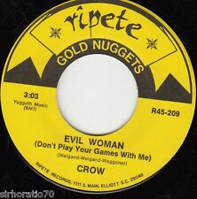CROW Evil Woman / AMERICAN BREED Bend Me Shape Me 45