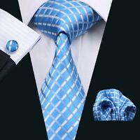 SN-528 Men's 100% Jacquard Woven Silk Neckties Tie+Hanky+Cufflinks Sets Free P&P