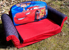 Disney PIXAR Cars Marshmallow 2-in-1 Flip Open Sofa Bed - VGC