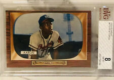 1955 Bowman #179 Hank Aaron BVG 8. Centered, Premium Card, Super High Grade