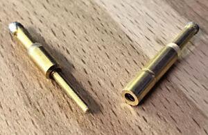1 Paar 4mm Goldkontakt Stecker / Buchse Verbinder zum löten aus der Meßtechnik