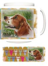 WELSH SPRINGER SPANIEL DOG NEW HEART DESIGN MUG SANDRA COEN ARTIST OIL PAINTING