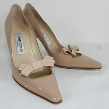 JIMMY CHOO Ladies Beige Patent Leather Classic Heels Size US 6.5/EU 36.5