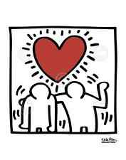 POP ART PRINT - KH03 by Keith Haring Romantic Love Red Heart Poster 11x14