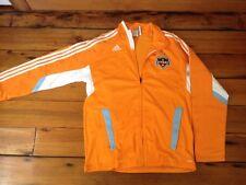 Adidas Houston Dynamo Climalite Soccer Team Neon Orange Zip Up Track Jacket L