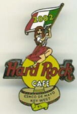 Hard Rock Cafe KEY WEST 2002 Cinco De Mayo PIN Sexy SENORITA Girl Flag HR #15029