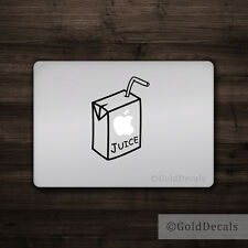 Apple Juice - Mac Apple Logo Cover Laptop Vinyl Decal Sticker Macbook Unique