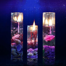 Romantic Glass Bottles Ocean Smokeless Jelly Wax Wedding Gel Candles Fashion