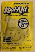 Vintage 1980s Kool-Aid Pack NOS Packet Sealed Lemonade General Foods Drink