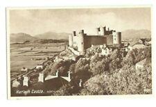 Postcard Harlech Castle Caernarvon English Series