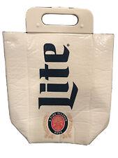 Miller Lite Koolit Insulated Tote Beer Cooler Ice- 12 Drink Cans- 2 Wine Bottles