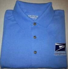 USPS Embroidered Polo Shirt S-3XL Carolina Blue  50/50 USPS1 SHIRT Free Shipping