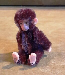 Schuco  Mohair Monkey Miniature Jointed Dollhouse Doll