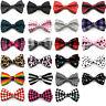 Mens Fashion Necktie Novelty Tuxedo Adjustable Bowtie Wedding Classic Bow Tie