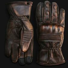 New listing Premium Leather Motorcycle Gloves (Brown) with Mobile Touchscreen