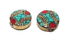 Nepalese beads coral turquoise 2 Tibet Beads Tibetan Beads boho beads BDS251