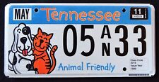 "TENNESSEE "" ANIMAL FRIENDLY - DOG - CAT "" 2011 TN Specialty License Plate"