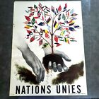 original 1st United Nations poster. by Henri Eveleigh 1947 Peace Tree 18x24