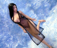 1/12 scale Doll clothes see-through large dress for female TBLeague action fig.