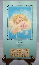 UNUSED ART DECO Glamour Romantic 1938 Calendar THE ORCHID GIRL by BILLY DeVORSS