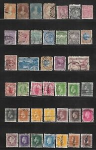 COLLECTION EARLY NEW ZEALAND POSTAGE STAMPS - VICTORIA TO GEORGE V - FINE USED,