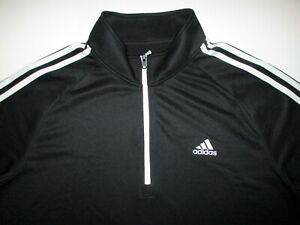 Adidas Golf 3 Stripe French Terry 1/4 Zip Pullover Men's L