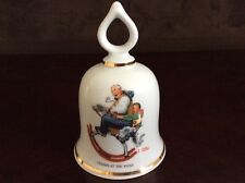 """Gramps At The Reins� Vintage Norman Rockwell Collectible Bell - 1979 Ltd Ed."