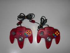 N64 CONTROLLER N64 red 2set Nintendo 64 used Japan Joystick USA.CAN NUS-005