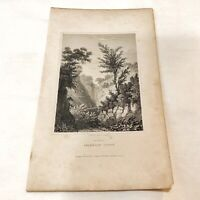 Authentic Antique 1700-1800's Engraving Plates On Paper — Artwork Art Old - E