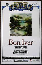 BON IVER 2011 Gig POSTER Edgefield Portland Oregon Concert