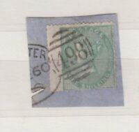 GB QV 1856 1/- Green On Piece SG73 VFU J9210