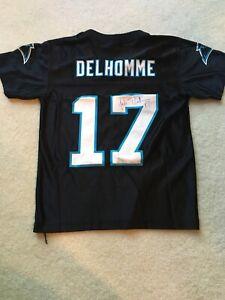 Jake Delhomme Carolina Panthers Football Signed Youth Jersey NFL