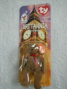 BRITANNIA BEAR - 1999 McDONALD'S PROMOTION - TY TEENIE BEANIE BABY - DECEMBER 15